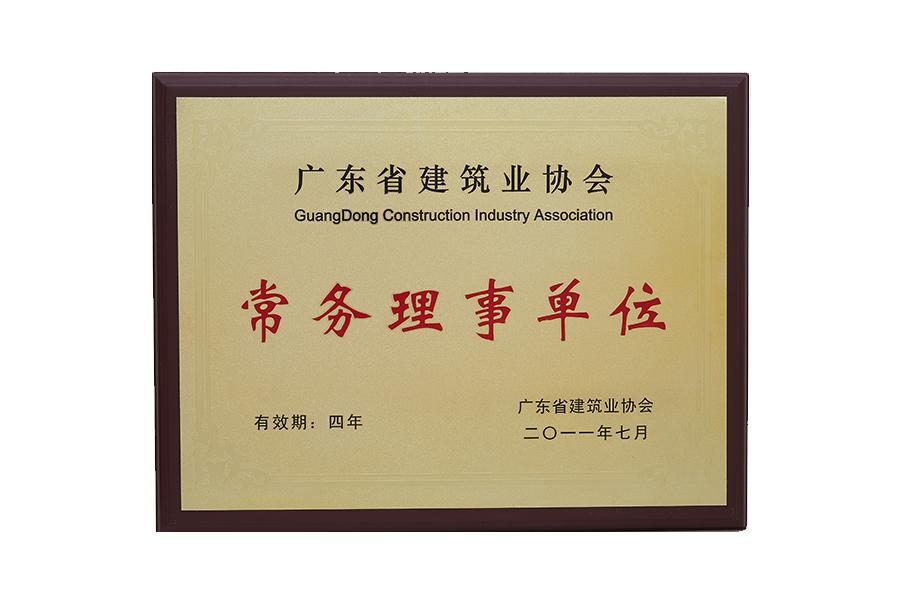 广东省建筑业协会常务理事单位