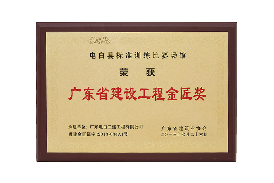 2013年广东省建设工程金匠奖